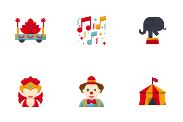 Carnival And Amusement Icon Pack