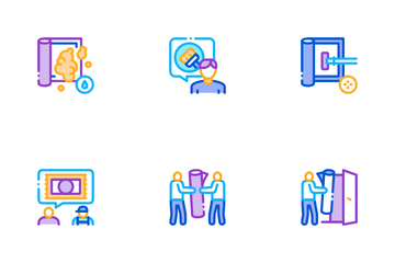 Carpet Cleaning Washing Service Icon Pack