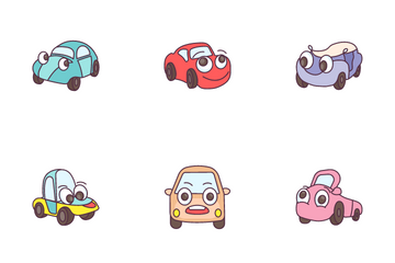Cartoon Cars Icon Pack