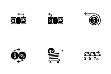 Cashback Money Service Icon Pack