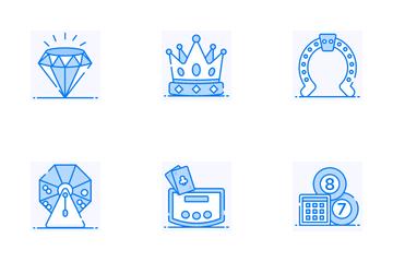 Casino And Slot Machines Icon Pack