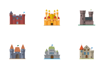 Castles, Palaces And Ruins Icon Pack