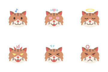 Cat Emoji Icon Pack
