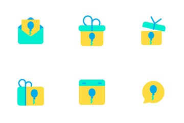 Celebration And Party - Flat Icon Pack