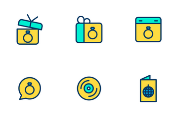 Celebration And Party - Lineal Color Icon Pack
