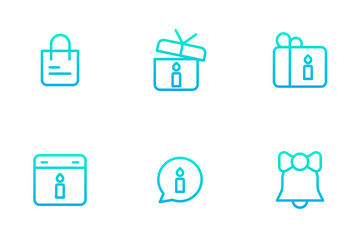 Celebration And Party - Outline Gradient Icon Pack