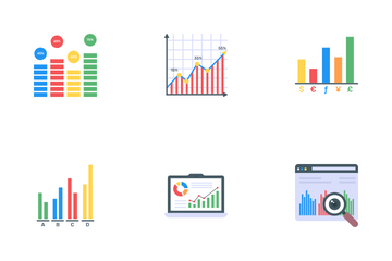 Charts And Graphs Icon Pack