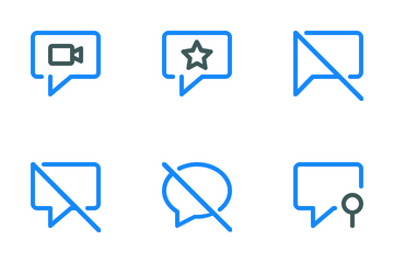 Chat Colored Line Icon Pack