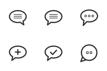 Chat & Conversation Icon Pack