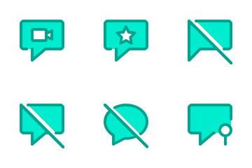 Chat Duo Tone Icon Pack