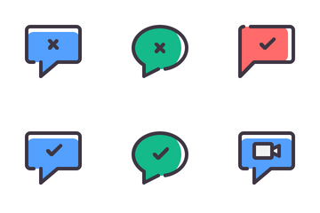 Chat Filled Line Icon Pack