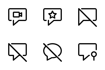 Chat Line Icon Pack