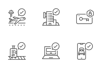 Check-In And Check-Out Icon Pack