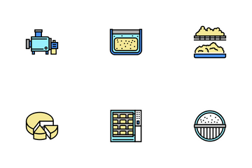 Cheese Production Icon Pack