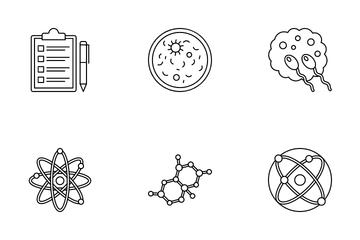 Chemical & Bio Lab Equipment Icon Pack