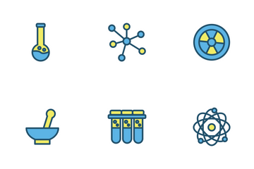 Chemistry Icon Filled Outline Icon Pack
