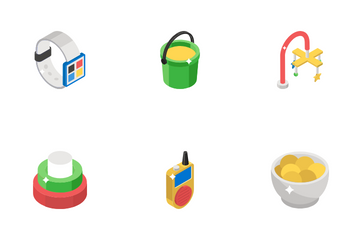Childhood And Toys Icon Pack