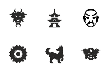 Chinese Culture & Attributes Icon Pack