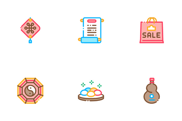 Chinese New Year Feast Icon Pack