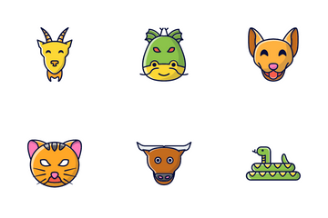 Chinese Zodiac Signs Icon Pack