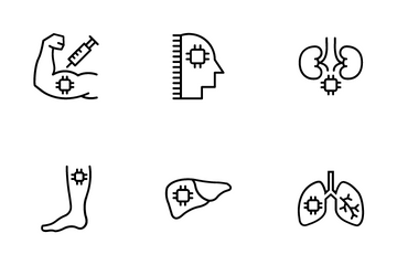 Chip In Human Body Icon Pack