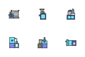 Chocolate Production Icon Pack