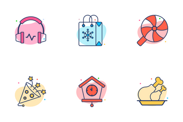 Christmas And Happy New Year Celebration Icon Pack