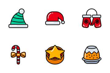 Christmas - Bright Fill Icon Pack
