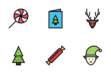 Christmas Colored Icon Pack