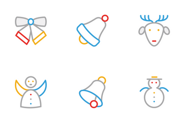 Christmas Colored Line Icons Icon Pack