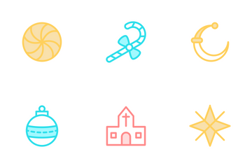 Christmas Colour Line Icons Icon Pack