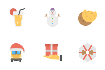 Christmas Flat Icons 2 Icon Pack