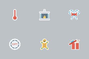 Christmas Flat Paper Vol 1 Icon Pack