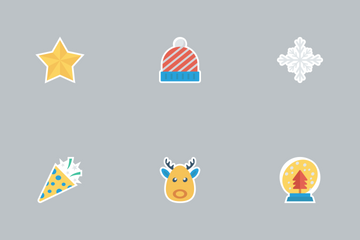 Christmas Flat Paper Vol 2 Icon Pack