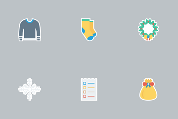 Christmas Flat Paper Vol 3 Icon Pack