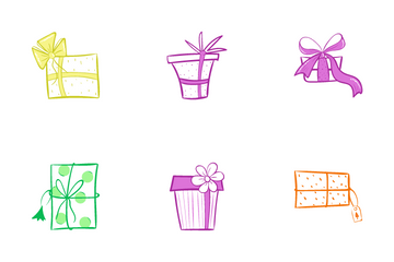 Christmas Gift Boxes Icon Pack