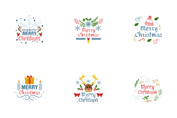 Christmas Greetings Icon Pack