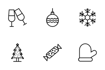 Christmas Line Icons  Icon Pack