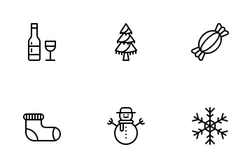 Christmas (Outline 64) Icon Pack