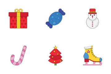 Christmas Party And Celebration Icon Pack