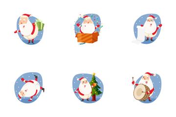 Christmas Santa Icon Pack