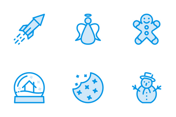 Christmas Set Blue Icon Pack
