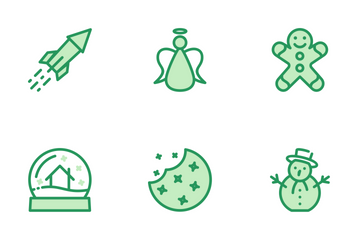 Christmas Set Green Icon Pack