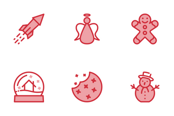 Christmas Set Red Icon Pack