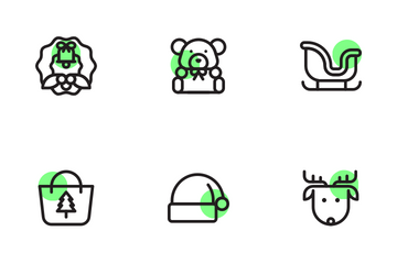 Christmas Shape Colours Icon Pack