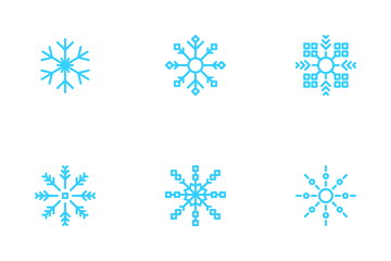 Christmas Snow Flakes Icon Pack