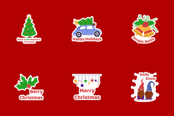 Christmas Stickers Icon Pack