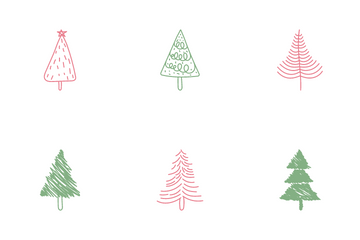 Christmas Trees Icon Pack