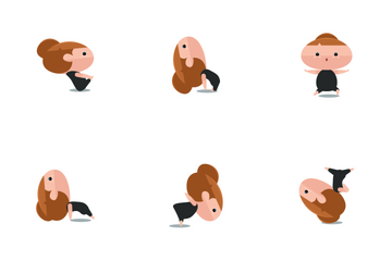 Chubby Yoga Pose Icon Pack