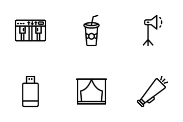 Cinema And Movie Making Icon Pack